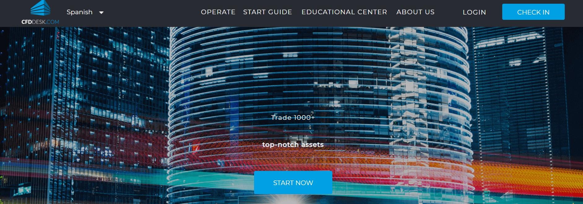 CFDdesk website